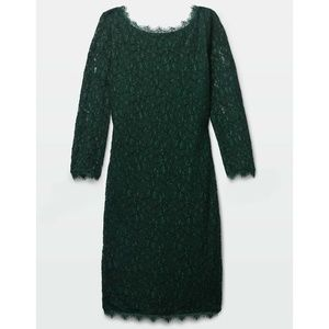 Aritzia | Babaton Rafael Emerald Green Lace Dress